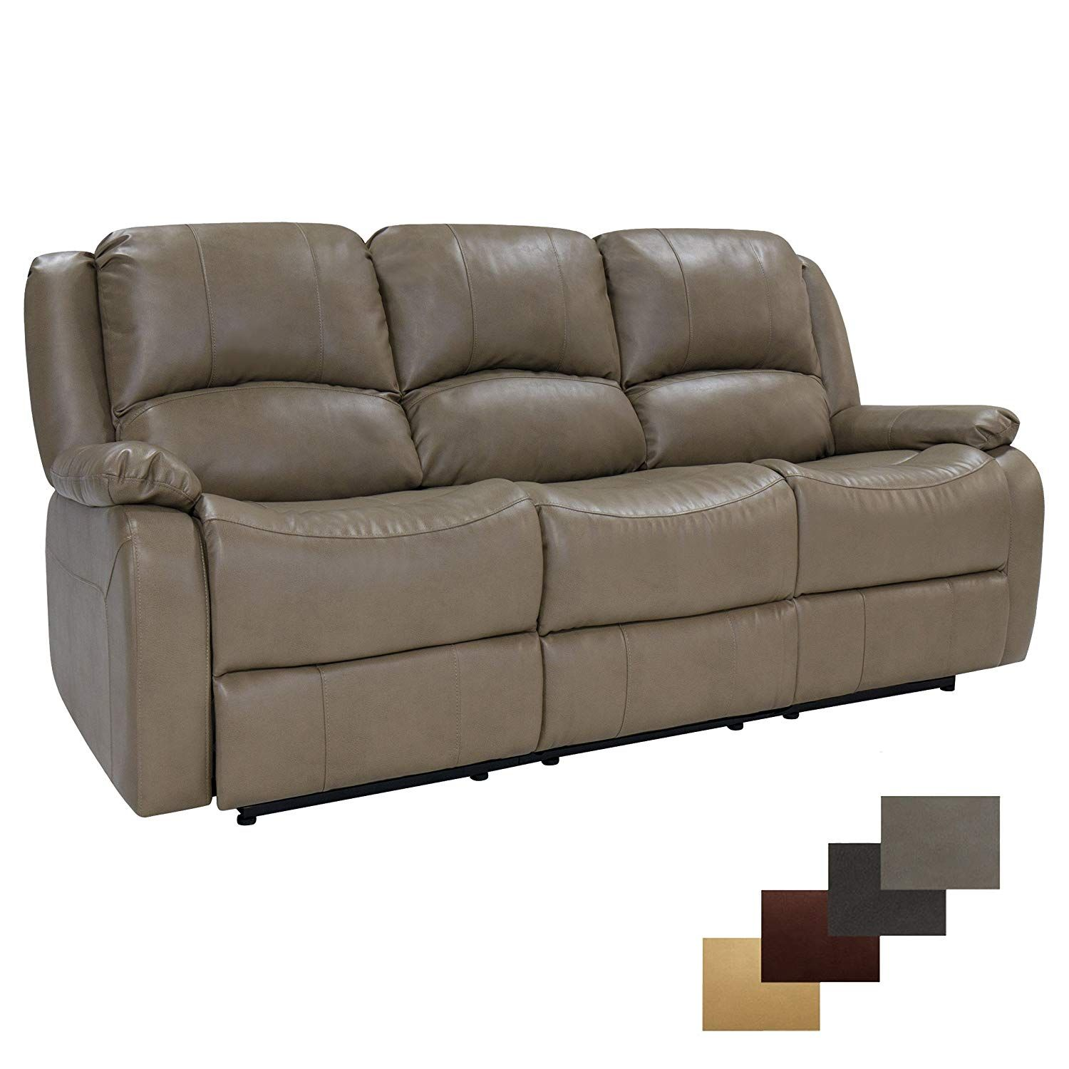 80 Triple Recliner RV Sofa /& Drop Down Console RecPro Charles Collection Furniture RV Theater Seating RV Furniture RV Zero Wall Wall Hugger Recliner RV Living Room Toffee Slideout