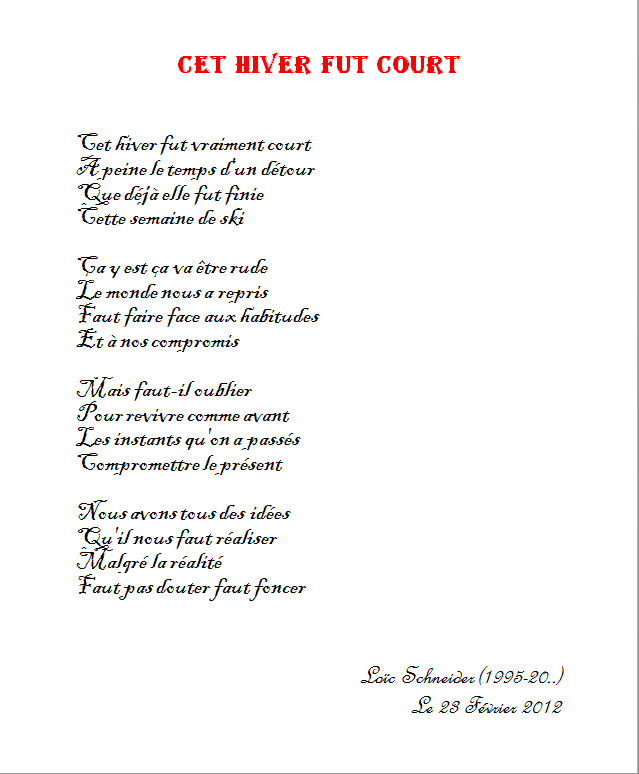 8 Cet Hiver Fut Court Poeme Poesie Hiver Hiver Peine