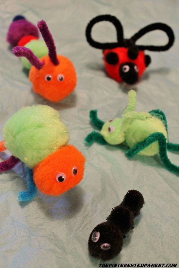 Pom Pom Pets - insect craft made from pom poms and pipe cleaners & Pom Pom Pets | Share Your Craft | Pinterest | Insect crafts Insects ...