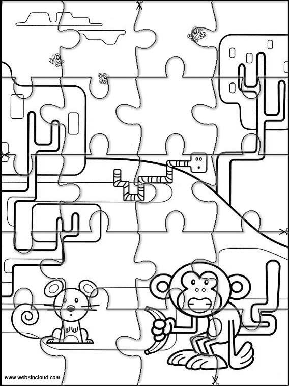 Aktivitäten für Kinder. Puzzlespiele Wow Wow Wubbzy 4 | Puzzlespiele ...