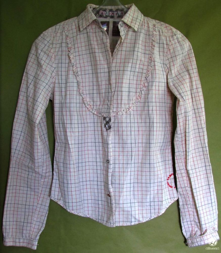 b9725025b7 CAMPUS BY MARC 0´POLO COUNTRY HEMD BLUSE CASUAL Gr S 36 38 beige Karo