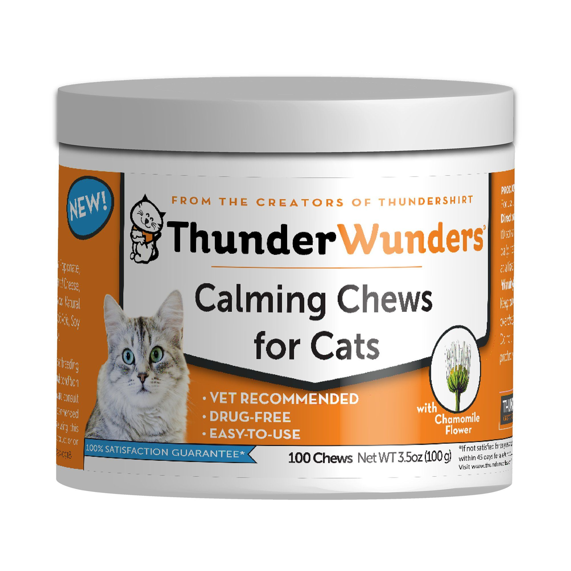 Thunderworks Thunderwunder Calming Chews For Cats Count Of 100 Calming Cat Cats Cat Vet