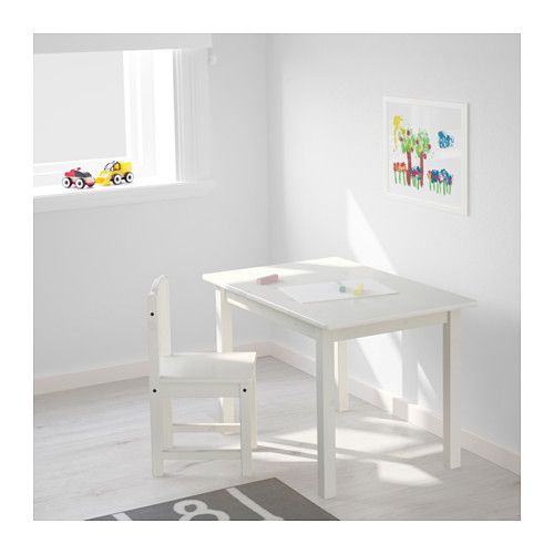 SUNDVIK Children's chair, white IKEA | Table enfant
