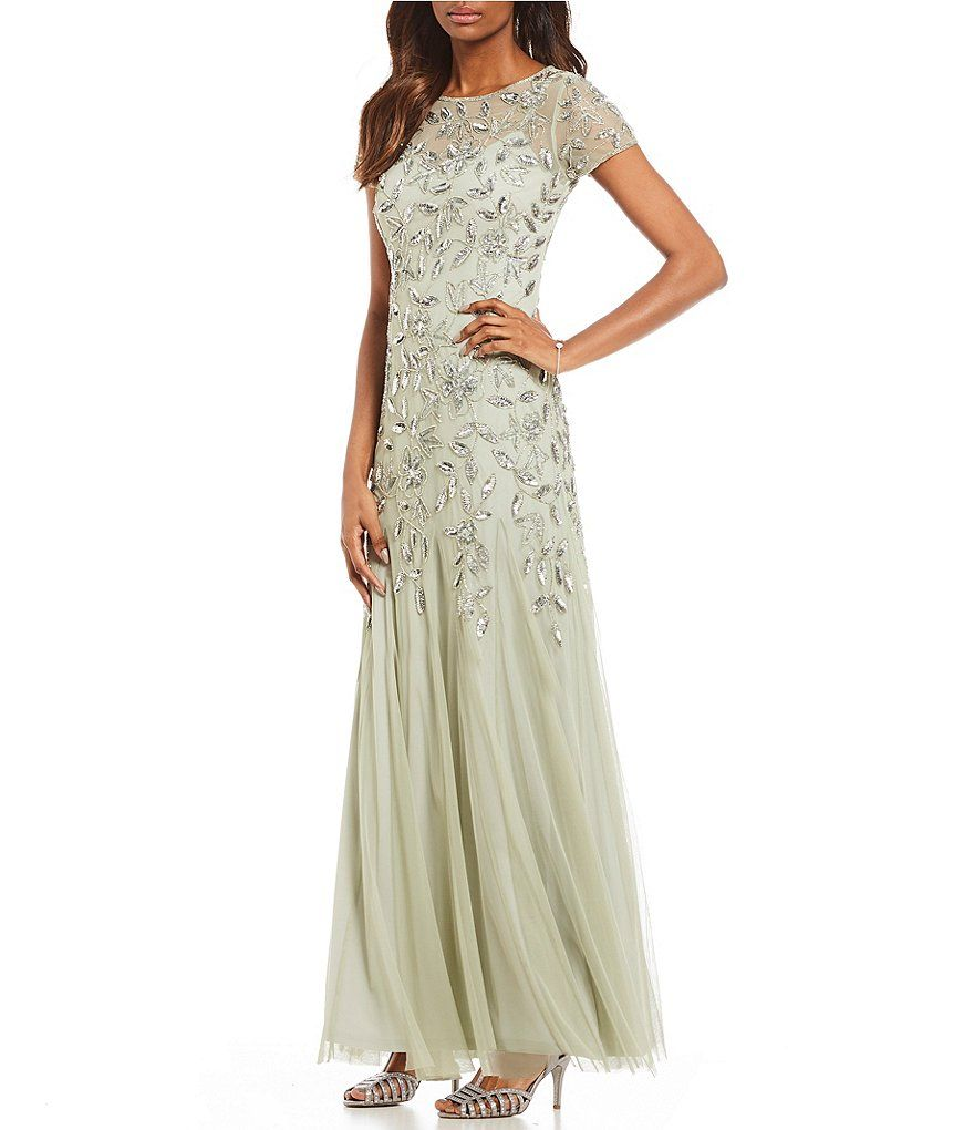 dd7ae8af5e8 Adrianna Papell Petite Floral Beaded Gown