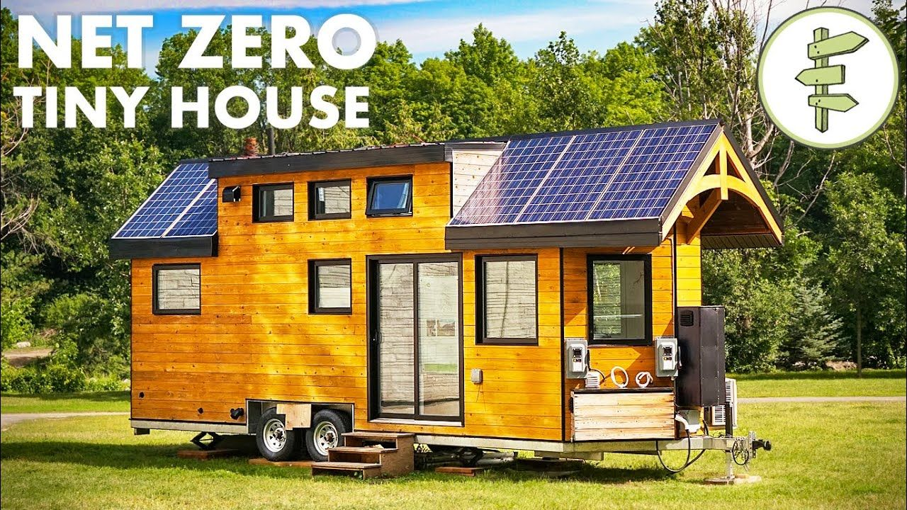 Super High Tech Off Grid Tiny House For Sustainable Living Full Tour Off Grid Tiny House Tiny House Off Grid House