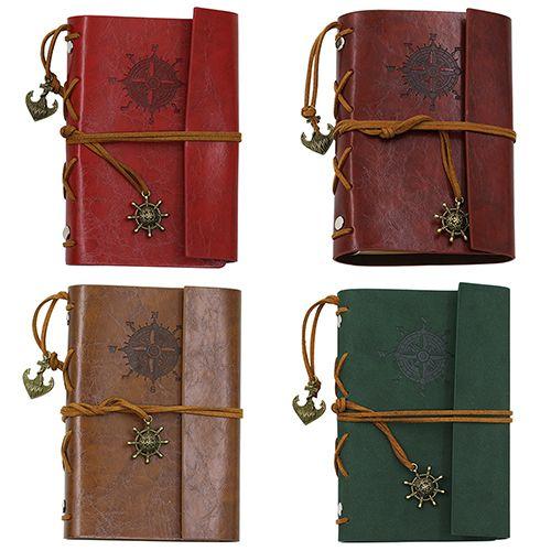 Retro Anchor Copertina In Ecopelle Notebook Journal Libro del Diario Del Viaggiatore Stringa Vuota