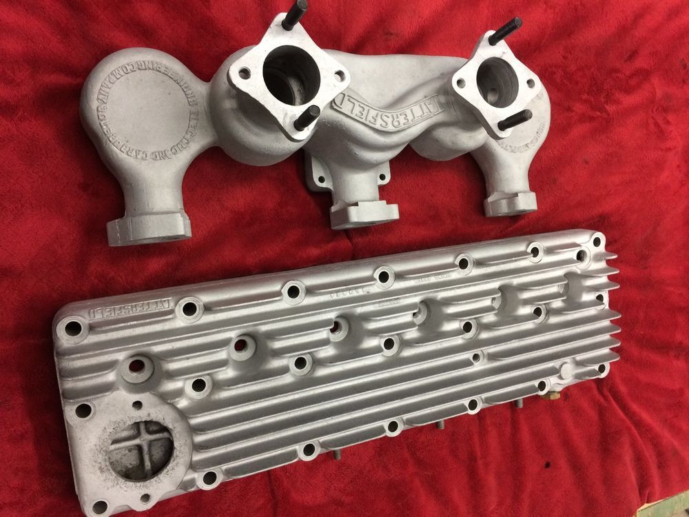 Vtg Tattersfield Head and Intake Manifold Dodge Plymouth 6