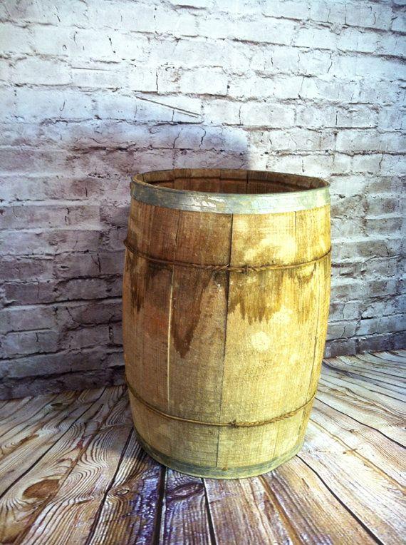 Wooden Barrel Home Decor Storage Bin Bar Decor Whisky Wine ...