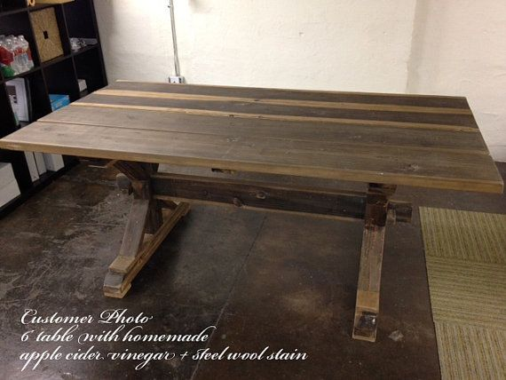 Farmhouse Trestle Table DIY Kit By LakeshoreHnH On Etsy, $200.00