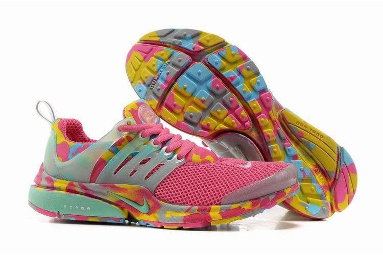Womens Nike Free Run Camouflage Shoes pink  yellow camo