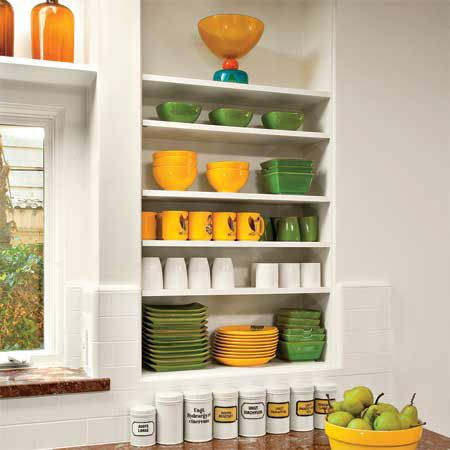 Open Shelves For Display Help Personalise A Kitchen. Lovely Colourful  Crockery In This Brazilian Kitchen.
