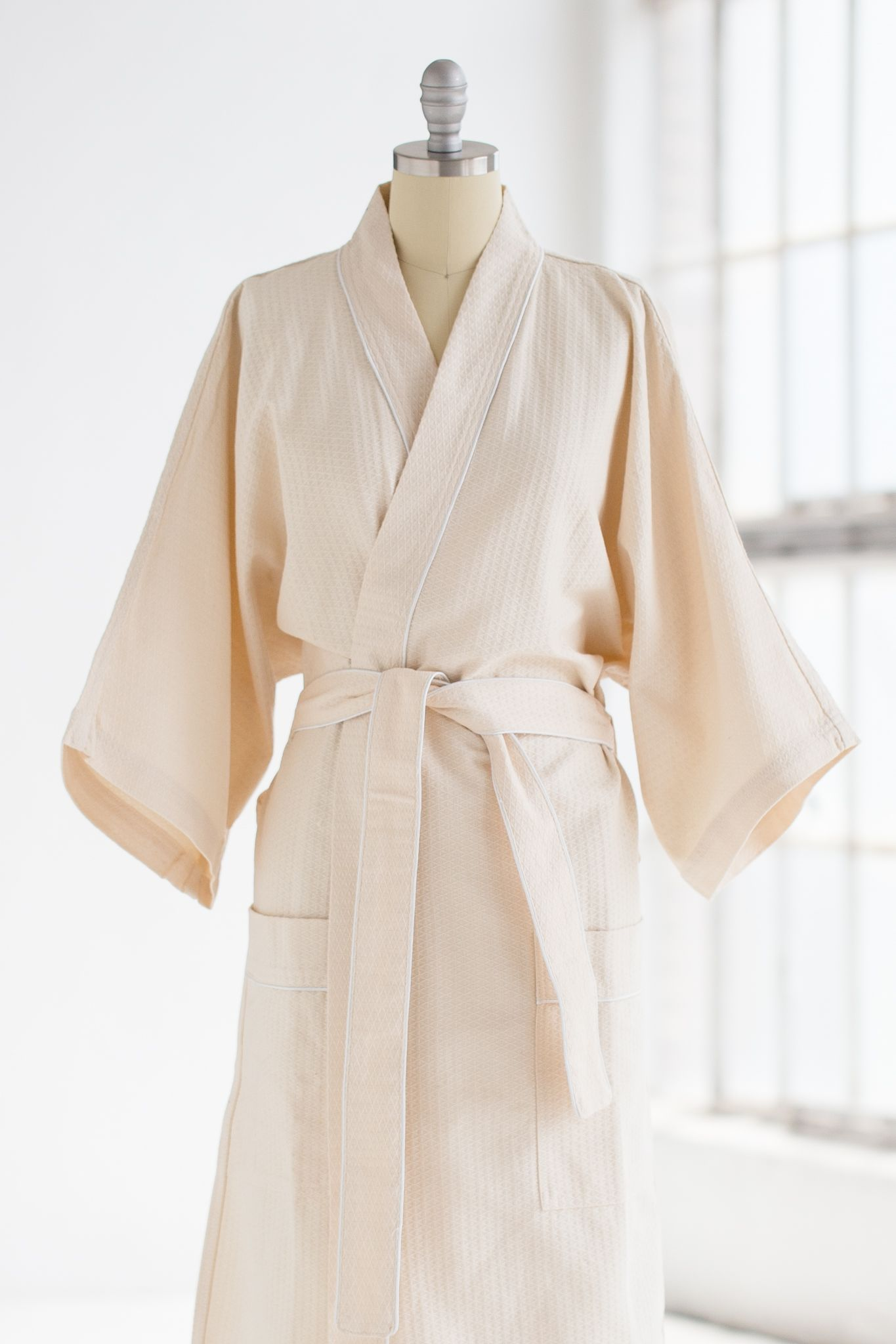 KIMONO WAFFLE SPA ROBE IN NATURAL 88.00 This lightweight waffle kimono spa  robe is a simple favorite. Single layer of 100% cotton waffle fabric b1af9da51