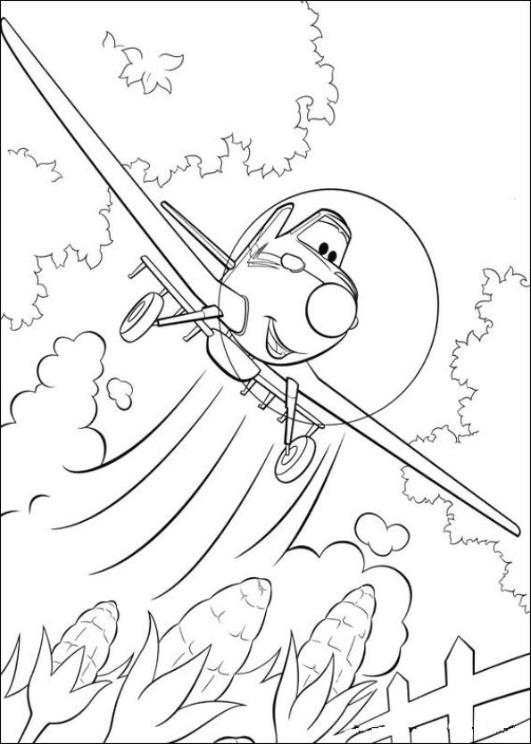 Coloring Page Planes Dusty Crophopper Disney Coloring Pages Cool Coloring Pages Cartoon Coloring Pages