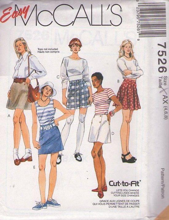 Momspatterns Vintage Sewing Patterns Mccalls 7526 Retro 90s