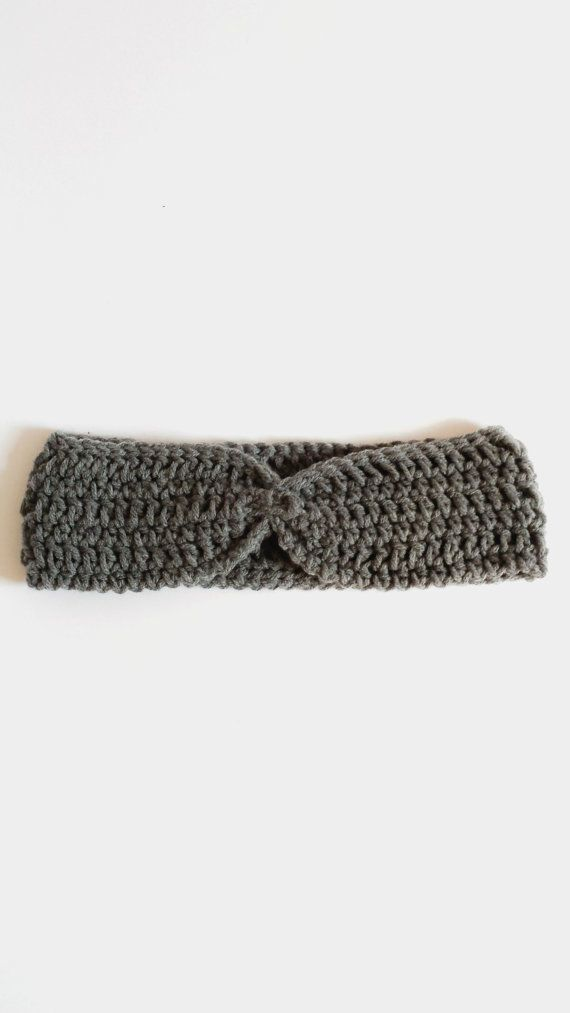 Crochet Cinched Heaband for Women - True Grey - Gift Ideas for Women ...