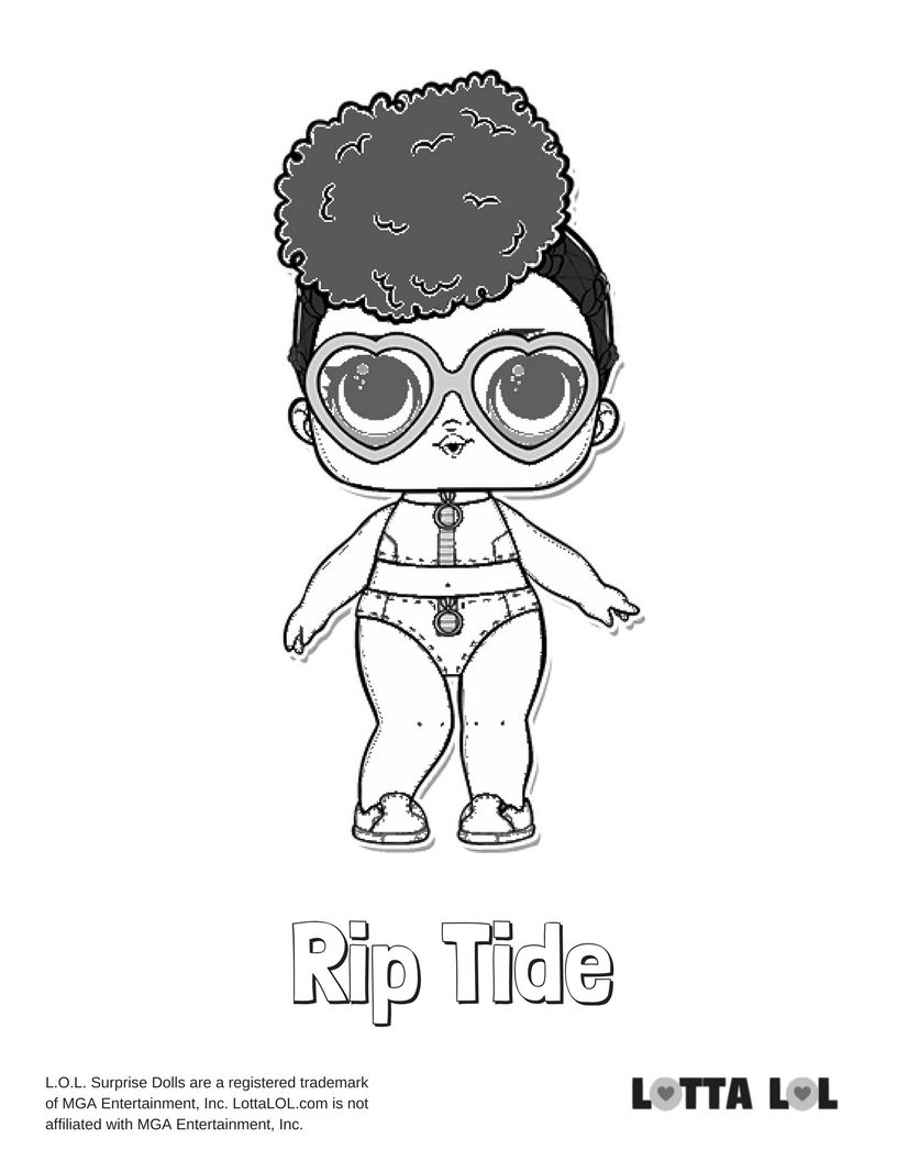 Rip Tide Coloring Page Lotta LOL