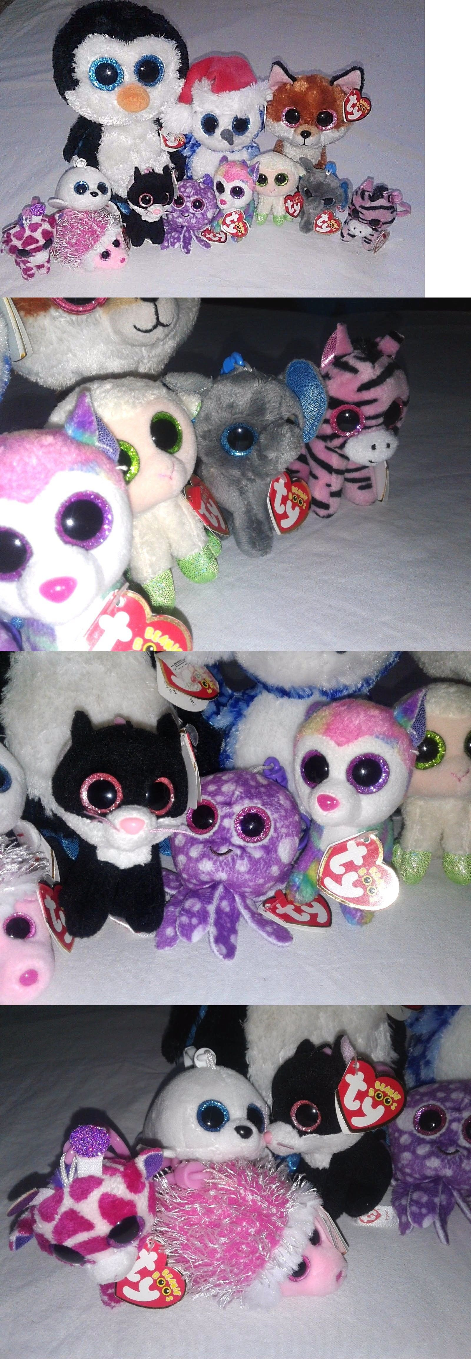 Other Ty Beanbag Plush 1037  Nwt Ty Beanie Boo Lot 12Pc Pepper And Peanut  Clips 7149420b90f4