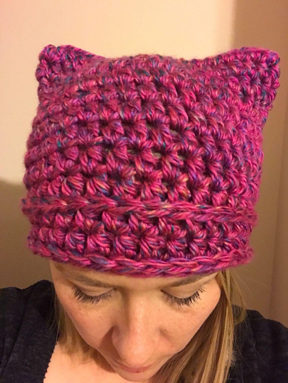 pink pussyhat, pussy hat, pussyhat, pink cat ear hat, pussycat hat