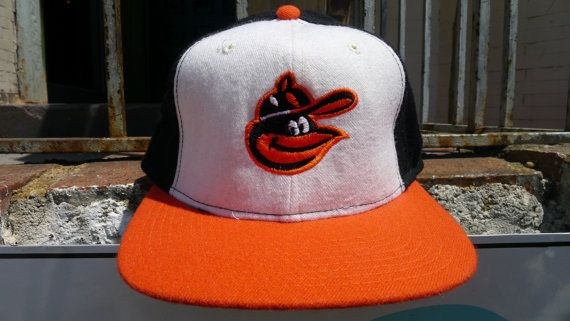 new product 1d246 ccd4e Vintage BALTIMORE ORIOLES cap Fitted New Era Hat by JointCustodyDC,  49.99