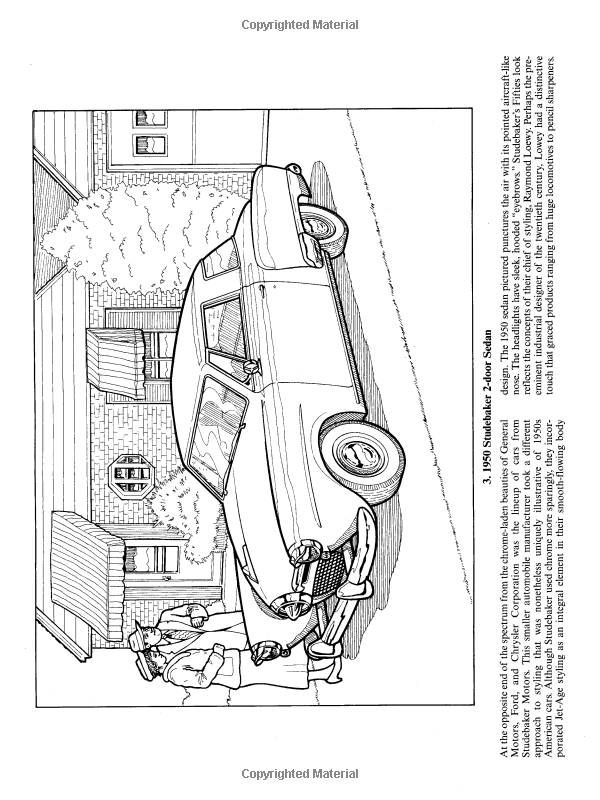 Classic Cars Of The Fifties Dover History Coloring Book Bruce LaFontaine