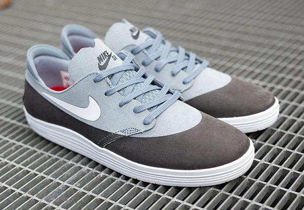 half off 3258c b5001 Nike SB Lunar One Shoe Black Grey Suede 4