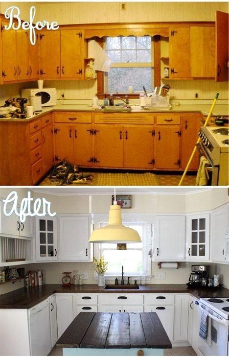 18+ Exhilarating 80s Kitchen Remodel Fixer Upper Ideas #whitegalleykitchens