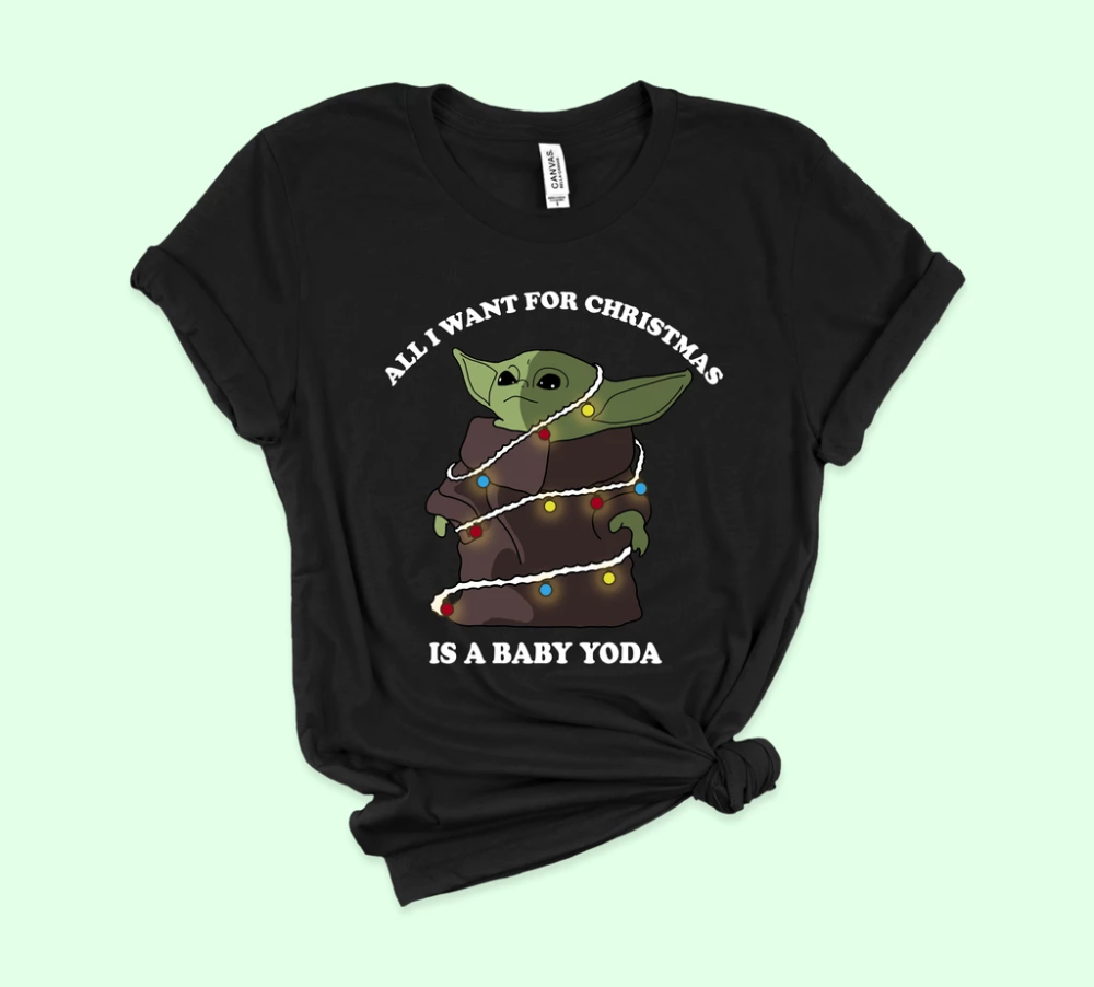 Star Wars Mujer The Mandalorian The Child Christmas Camiseta