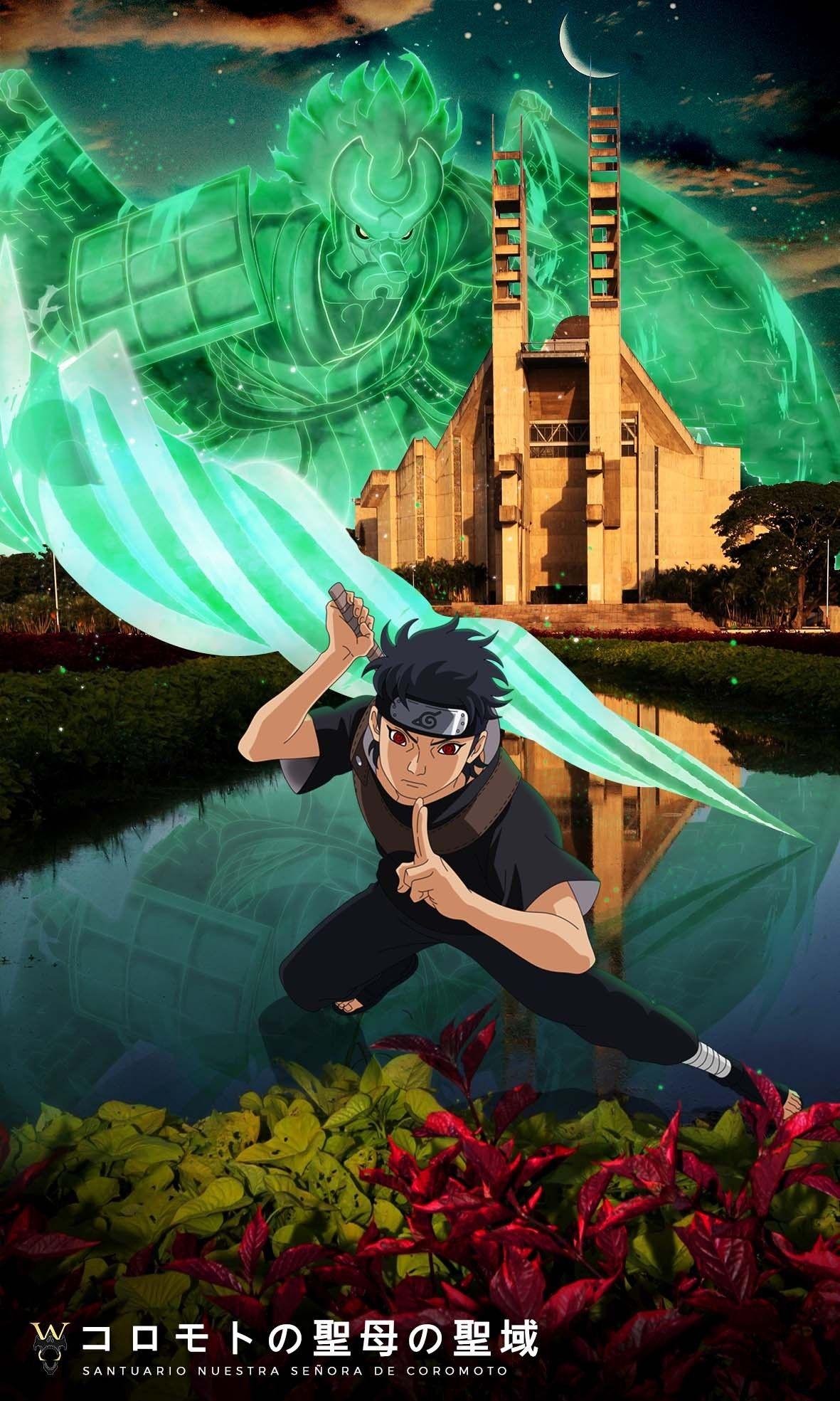 Shisui And His Susanoo In Venezuela Shisui Anime Anime Naruto