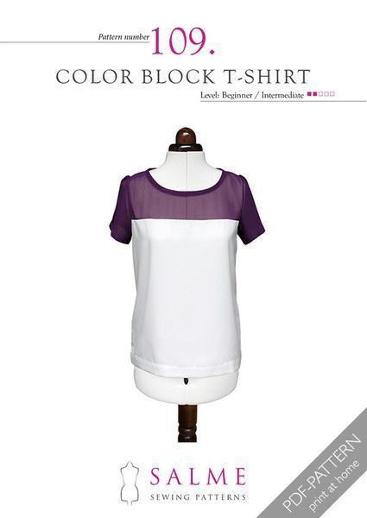 Color Block Tshirt Craftsy Sewing patterns, Dress