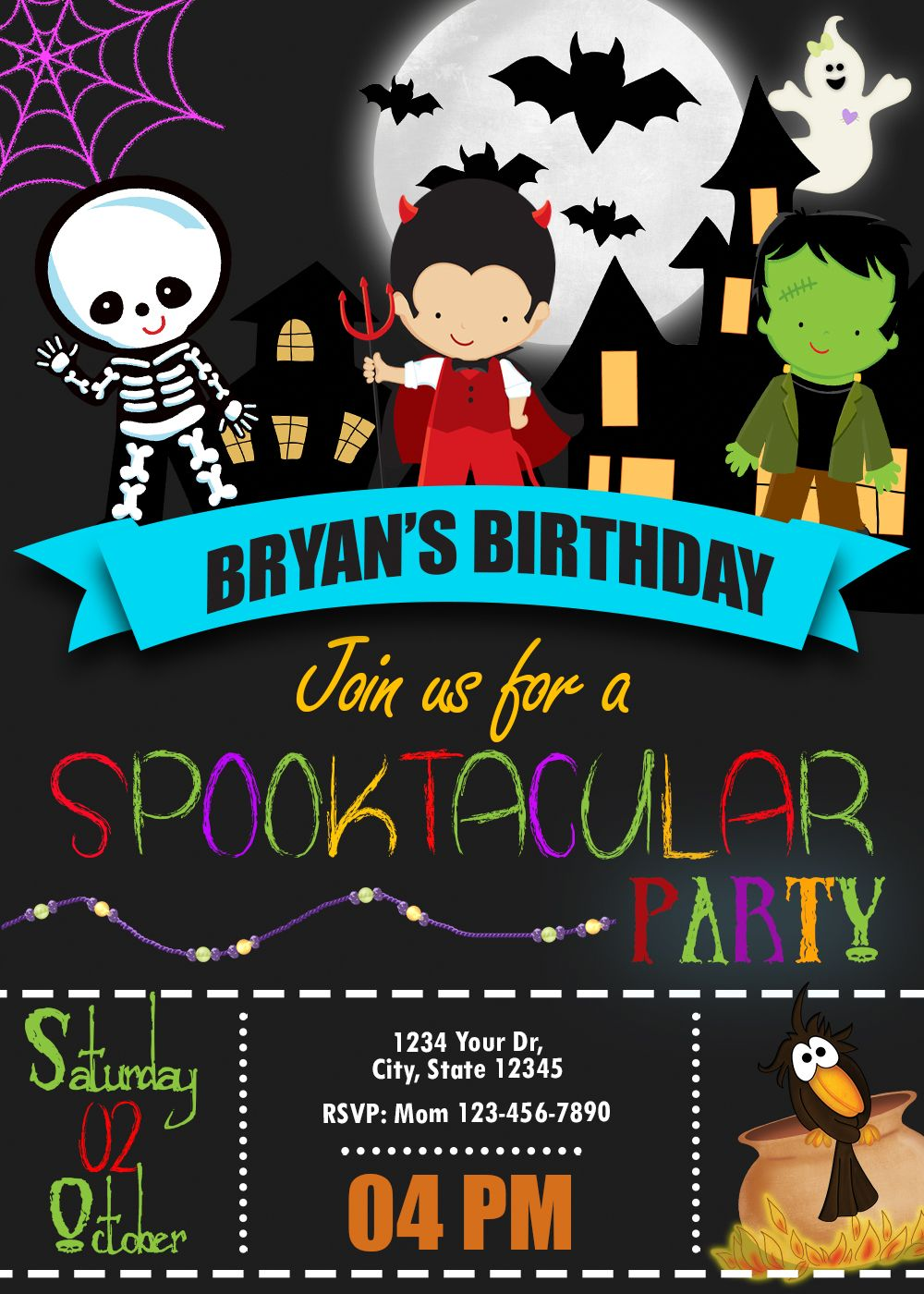 Birthday Invitations And Party Supplies Amazing Designs Us Halloween Birthday Party Invitations Halloween Costume Party Invitations Costume Party Invitations