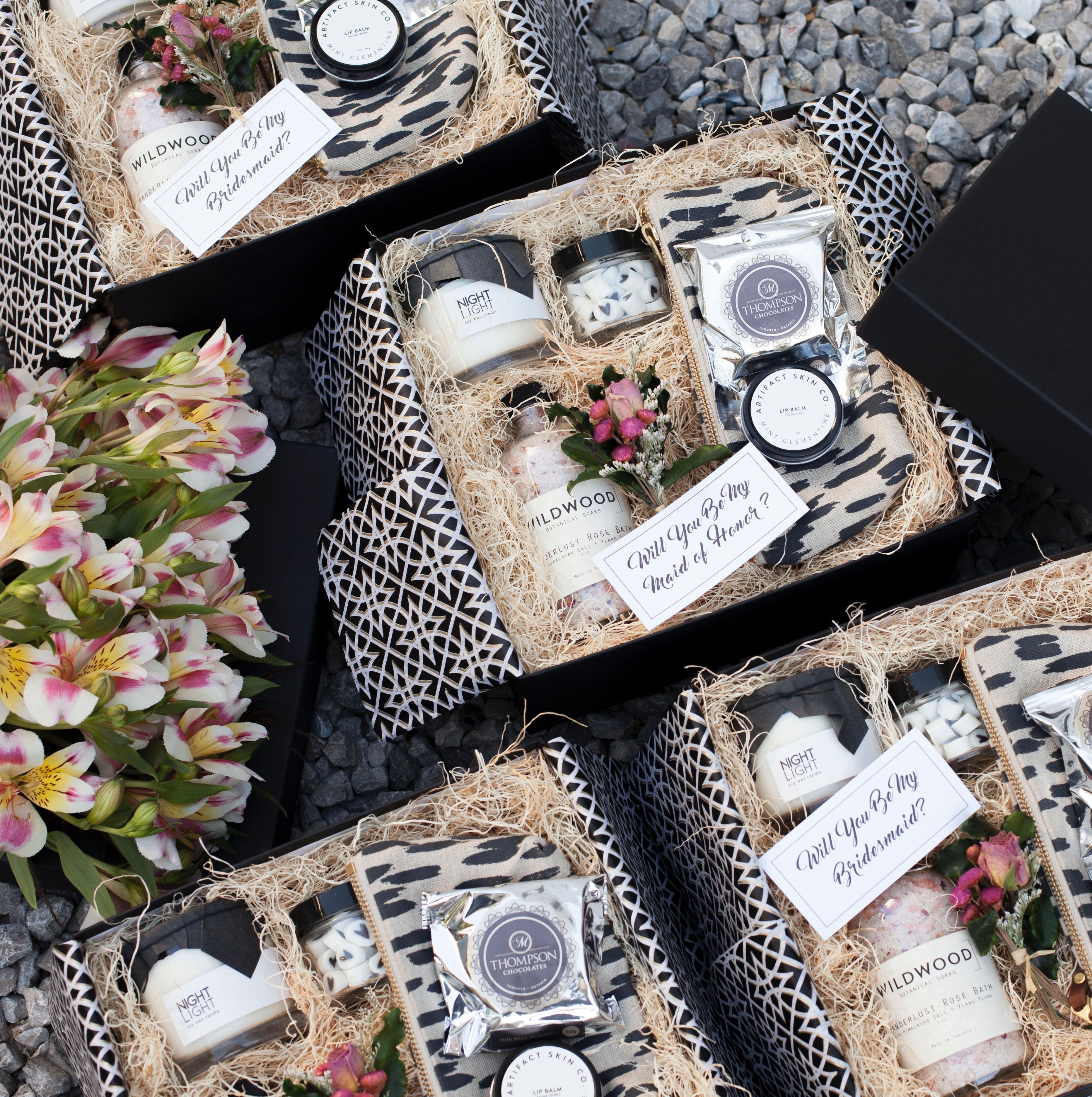 Expensive Wedding Gifts: Custom Bridesmaid Proposal Gifts