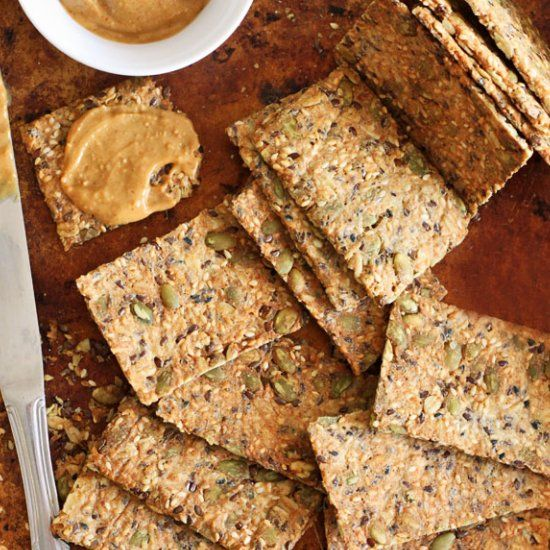 Ultimately addictive 5-Seed Crackers! Package perfect, home-made and better than Costco.