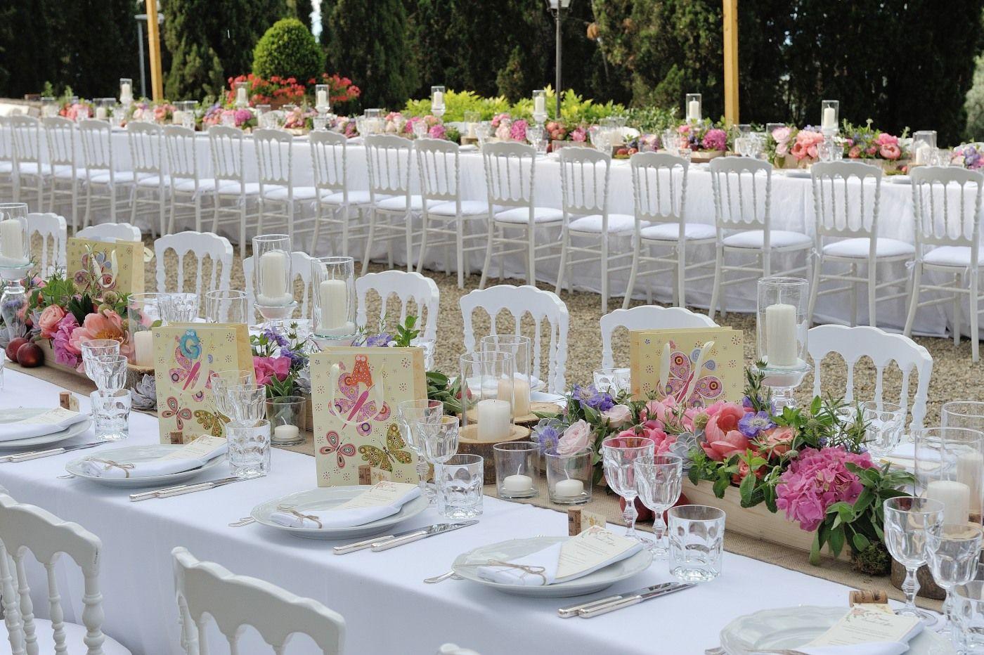 Wedding table setting decoration Italy Tuscany | Wedding table ...