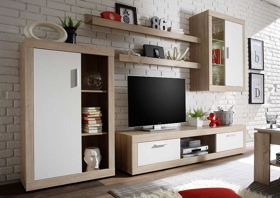 Wohnwand »Ocean« (5-tlg) inkl LED-Beleuchtung Jetzt bestellen - led design wohnzimmer