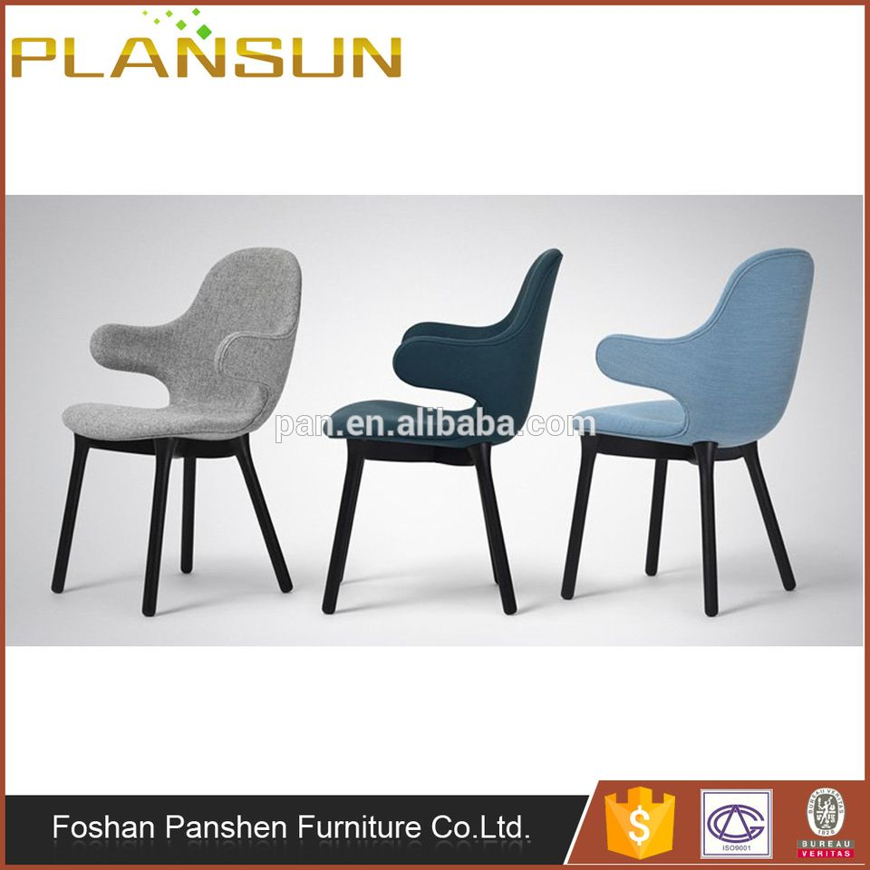 Copy Designer Furniture replica designer furniture fabric catch chair jh1 with solid wood