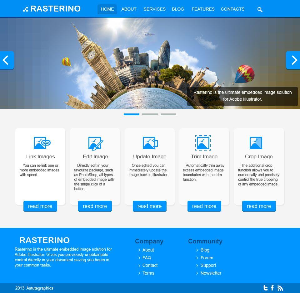 how to use rasterino and illustrator in web design astute graphics - Web Design Project Ideas