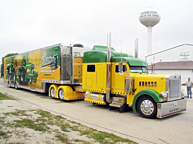 Tractor trailer super singles