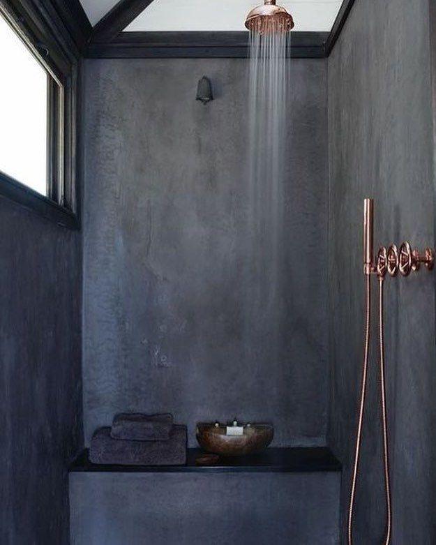 Vintage Retro Red Copper Brass Bathroom Rain Shower Faucet