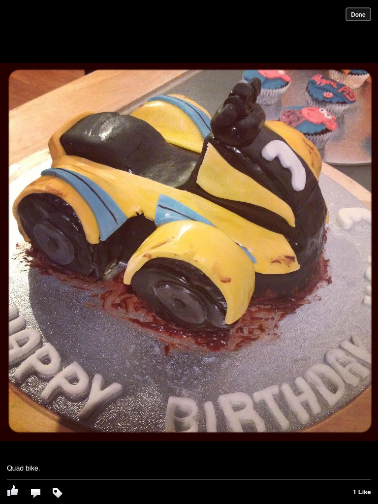 Quad Bike Cake Cakes Barnyard Party Birthday Decorations