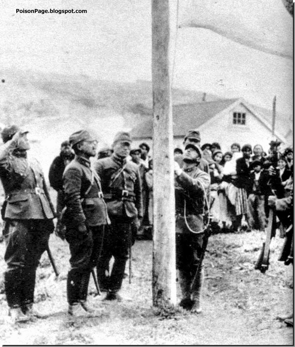 july 18 1942 raising the japanese flag at the aleutian islands