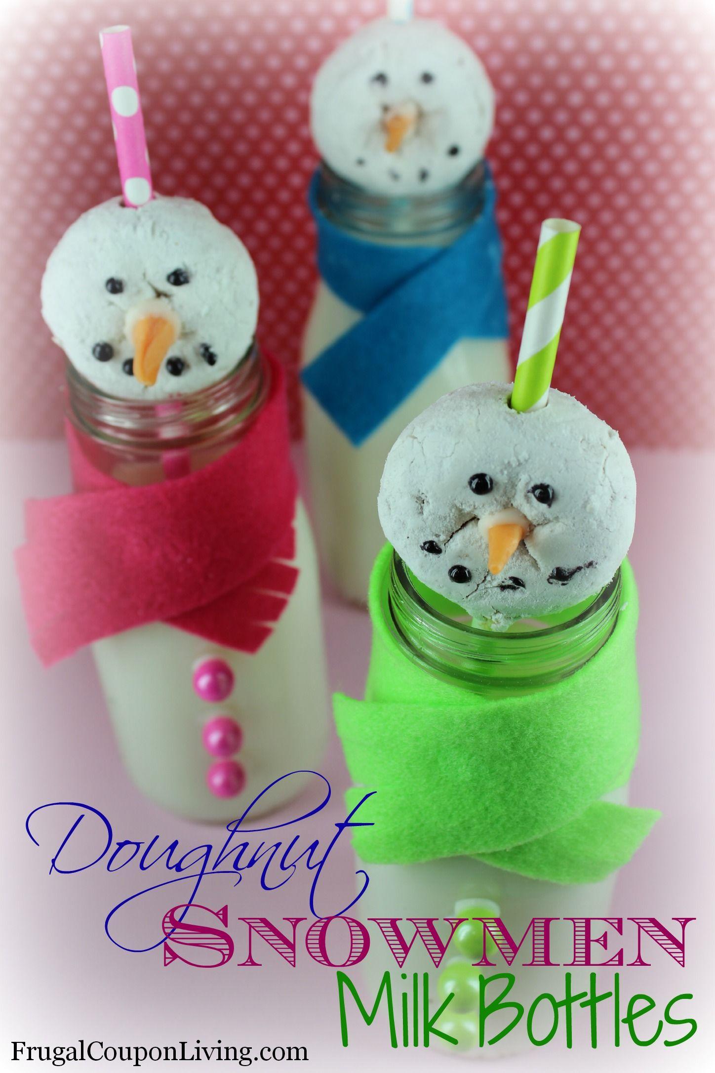 Frugal Coupon Living Doughnut Snowmen Milk Bottles  Do It