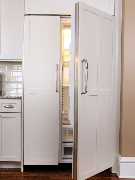 Paneled refrigerator design pictures remodel decor and for Kitchen remodel refrigerator