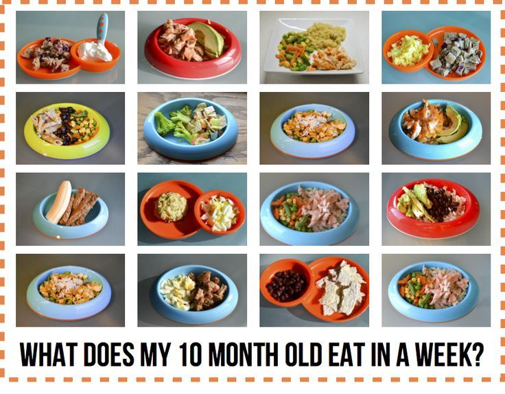 What Does My 10 Month Old Eat In A Week Baby Food Recipes 10 Month Old Baby Food Baby Eating