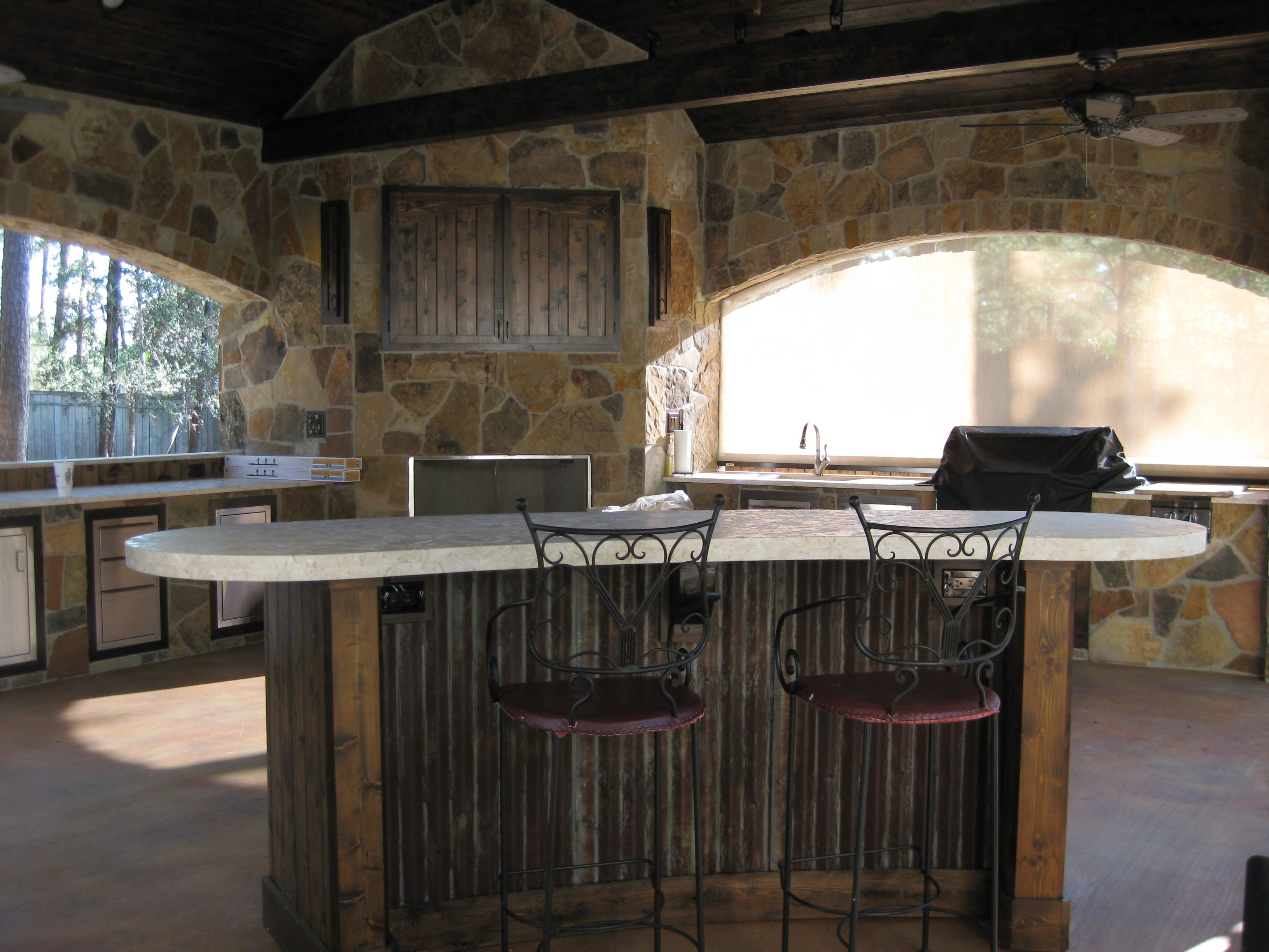 Outdoor Kitchens And Bars Built Out Of Galvalume