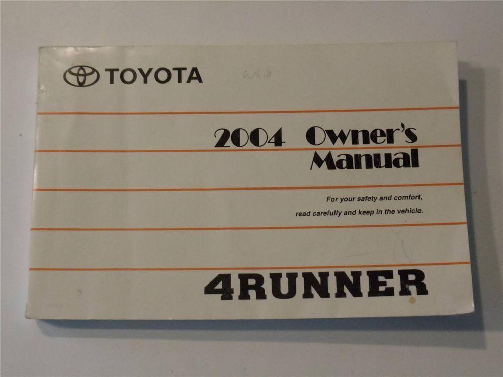 2004 toyota 4runner owners manual book owners manuals pinterest rh pinterest com 2004 4Runner Service Manual 2004 toyota 4runner owners manual