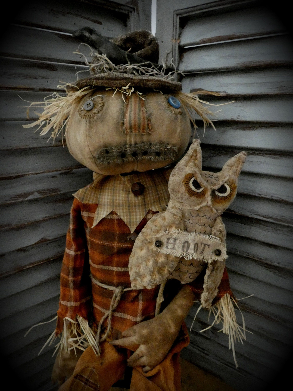MUSTARD SEED ORIGINALS, Primitive Scarecrow, Scarecrow