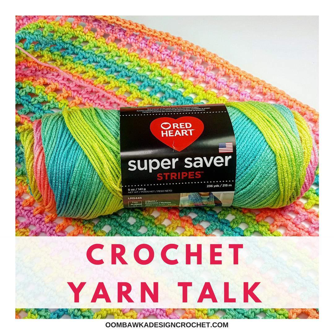 Crochet Yarn Talk Red Heart Super Saver Stripes Yarn Made In The