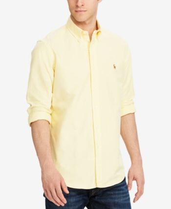 753d37041ee Polo Ralph Lauren Men Classic Fit Long Sleeve Solid Oxford Shirt in ...