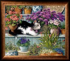 pintura mulher cuida de gato - Pesquisa Google