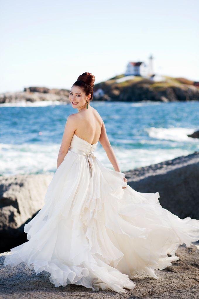 Nautical Wedding Dress - Viewpoint Hotel Wedding Detail - www.mark ...